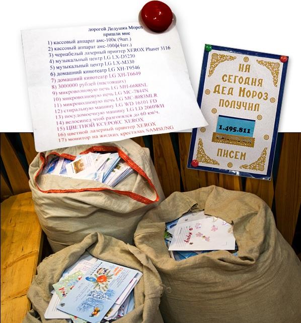 Письма к Деду Морозу полны нескромных просьб