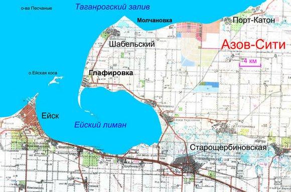 """Карта """"Азов-Сити"""""""