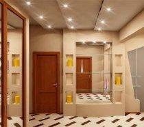 ЗЗеркальный шкаф и правильное освещение расширяют пространство