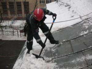Крышу путинского дома чистили на совесть