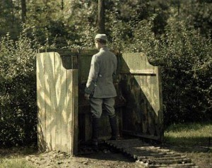 Туалет времен Первой мировой.