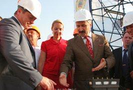 Василий Голубев на церемонии открытия терминала