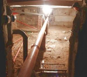 В подвале МКД.