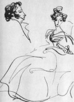 Пушкин и Анна Керн.