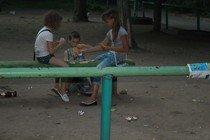 """ЖСК """"Орлёнок"""": на обломках детской площадки."""