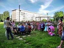 Собрание во дворе МКД.