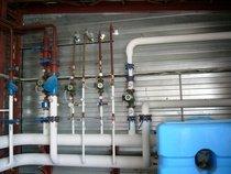 Теплоизоляция труб в котельной.