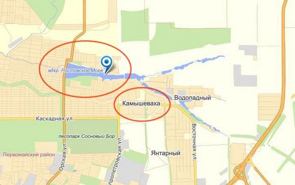 Окружающий Ростовское море пригород «Декоративные культуры» и лежащий по соседству «Янтарный»