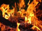 Новогодний пожар в частном доме.