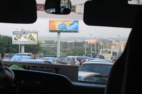 Дорога в Батайск через Ворошиловский мост.