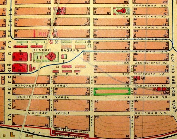 Карта Солдатской слободы.
