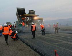 Строительство дороги.