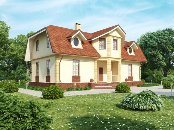 Дом по собственному проекту.