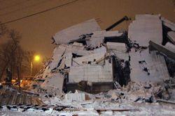 Рухнувший дом в Таганроге.
