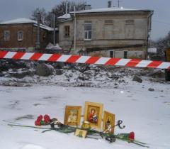 На месте таганрогской трагедии.