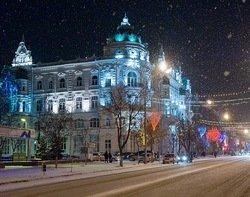 Ростовская мэрия зимой.