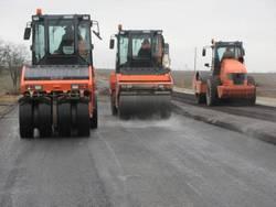 Строительство дорог в Ростове.