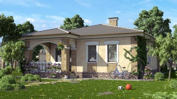 Проект дома в средиземноморском стиле.
