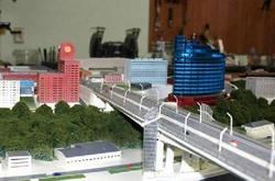 Дублер Ворошиловского моста на макете.