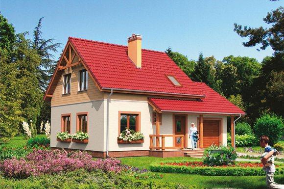 Один из проектов домов в БЛАГОДАТНОМ.
