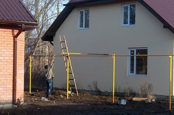 Двухуровневые дома в Березовой роще.