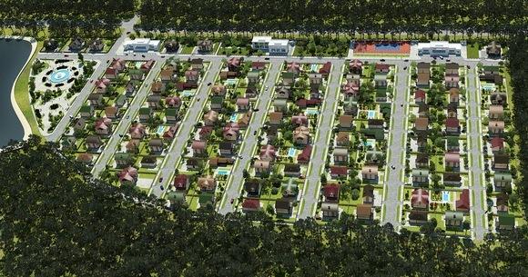 План поселка.