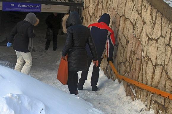 31 января: спуск в подземный переход.