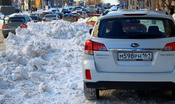 Буденновский после снегопада в Ростове через несколько суток.