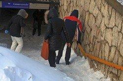 Подземные переходы в зимнем Ростове - особо опасная полоса препятствий.