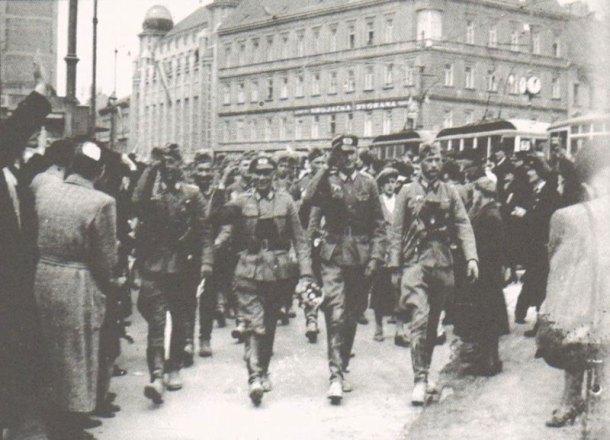 Вход немцев в Загреб 10.04.1941.