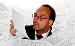 Бюрократ за работой.