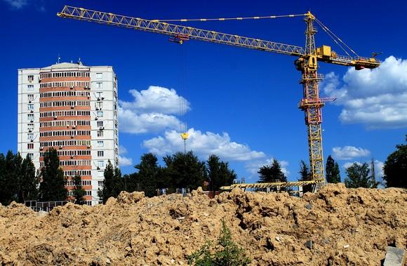 Строительство в Ростове.