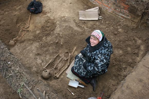 Археологические раскопки на Дону.