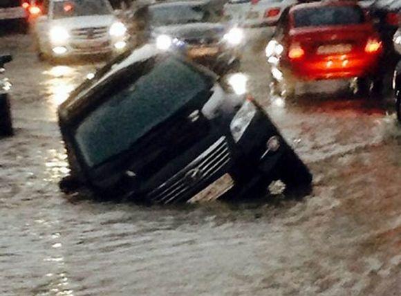 Дождь в Ростове.