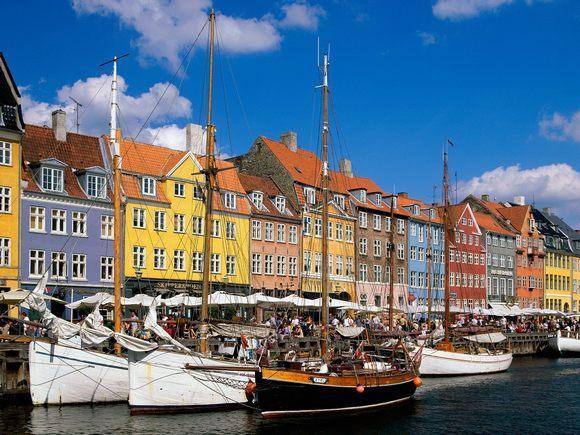 Набережная Копенгагена.