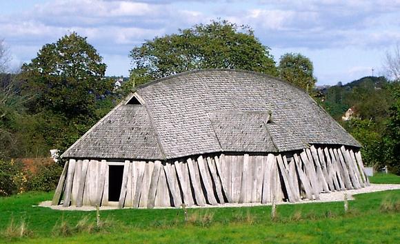 Реконструкция дома скандинавского рыбака I–V века.