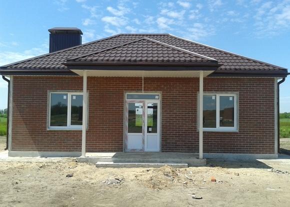 Строительство дома в Голубом озере.