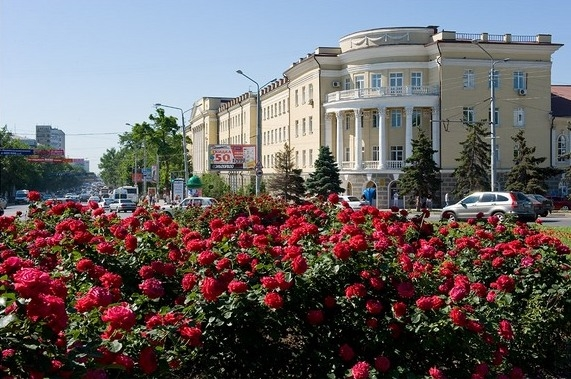 Комсомольская площадь в Ростове.