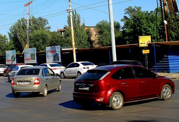 Парковка в Ростове.
