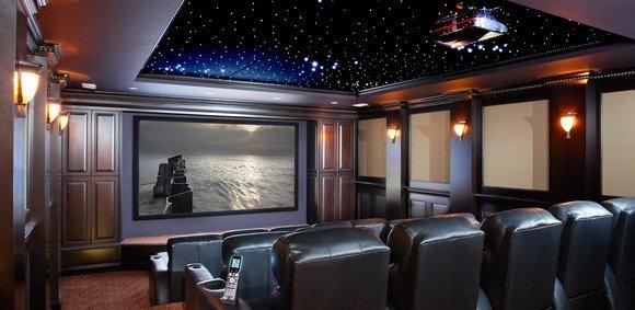 Домашний кинотеатр в американском доме.