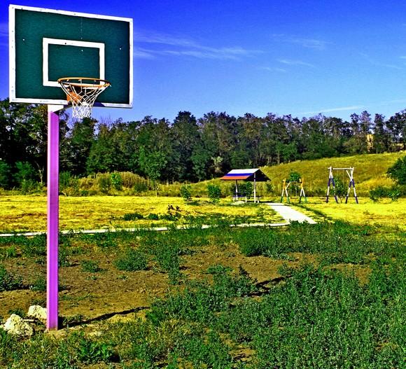 В Ореховой роще строится собственный парк со спортивной площадкой.