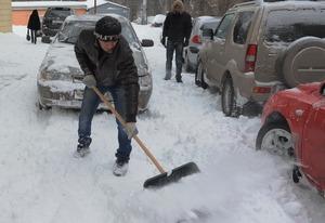 Снег в Ростове.