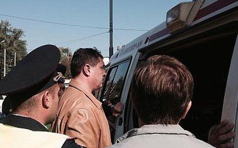 Валерий Будаев на месте преступления.