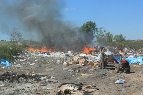 Как горела свалка в Ростове.