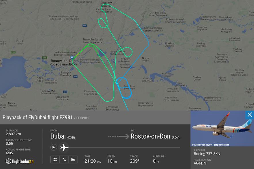 Схема полета Боинга перед авиакатастрофой.