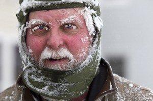 На Ростов идет снежный ураган.