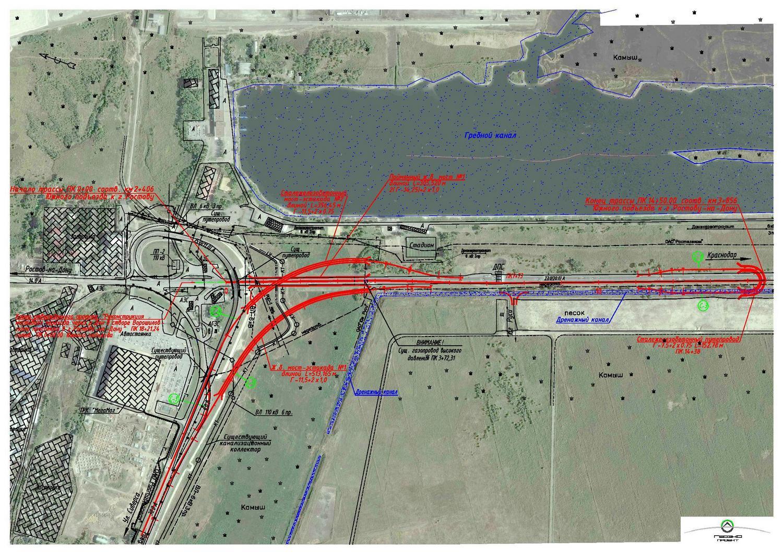 Карта реконструкции дороги. Увеличить.