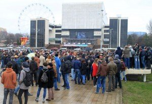 Митинг против коррупции на Театральной площади.