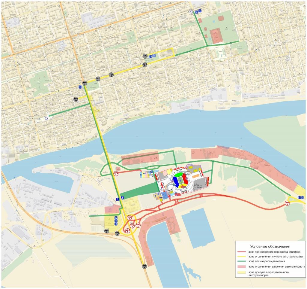 Большая часть главных трасс Ростова будет перекрыта.